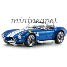 KYOSHO 08045 BLY SHELBY COBRA 427 S/C 1/18 DIECAST BLUE with YELLOW STRIPES