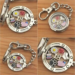 Image Is Loading Floating Locket Keyring 21st 30th 40th Birthday Gift