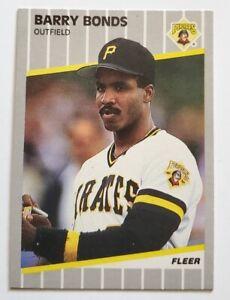 Barry Bonds Fleer 1989 MLB Trading Card #202 Pittsburgh Pirates