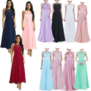 9ae8a11ab7a3f Details about AU Women Bridesmaid Wedding Formal Long Maxi Dress Cocktail  Party Ball Gown Prom