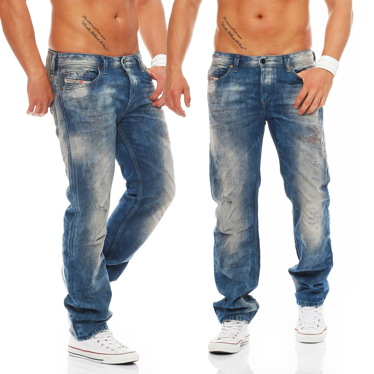 Diesel Jeans Waykee 0603Z Men's Trousers bluee Eyecons Edition Collection New RAR