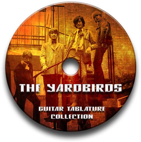 THE YARDBIRDS ROCK GUITAR TAB TABLATURE SONG BOOK SOFTWARE CD