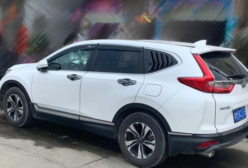 For 2017-2019 Honda CR-V CRV 2PC Bright black Side Vent Window Scoop Louver Trim