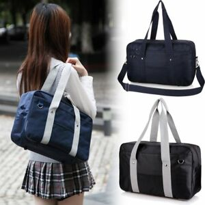 4adbfc1fb92b Image is loading Japanese-School-Uniform-Bag-JK-Cosplay-Student-Crossbody-