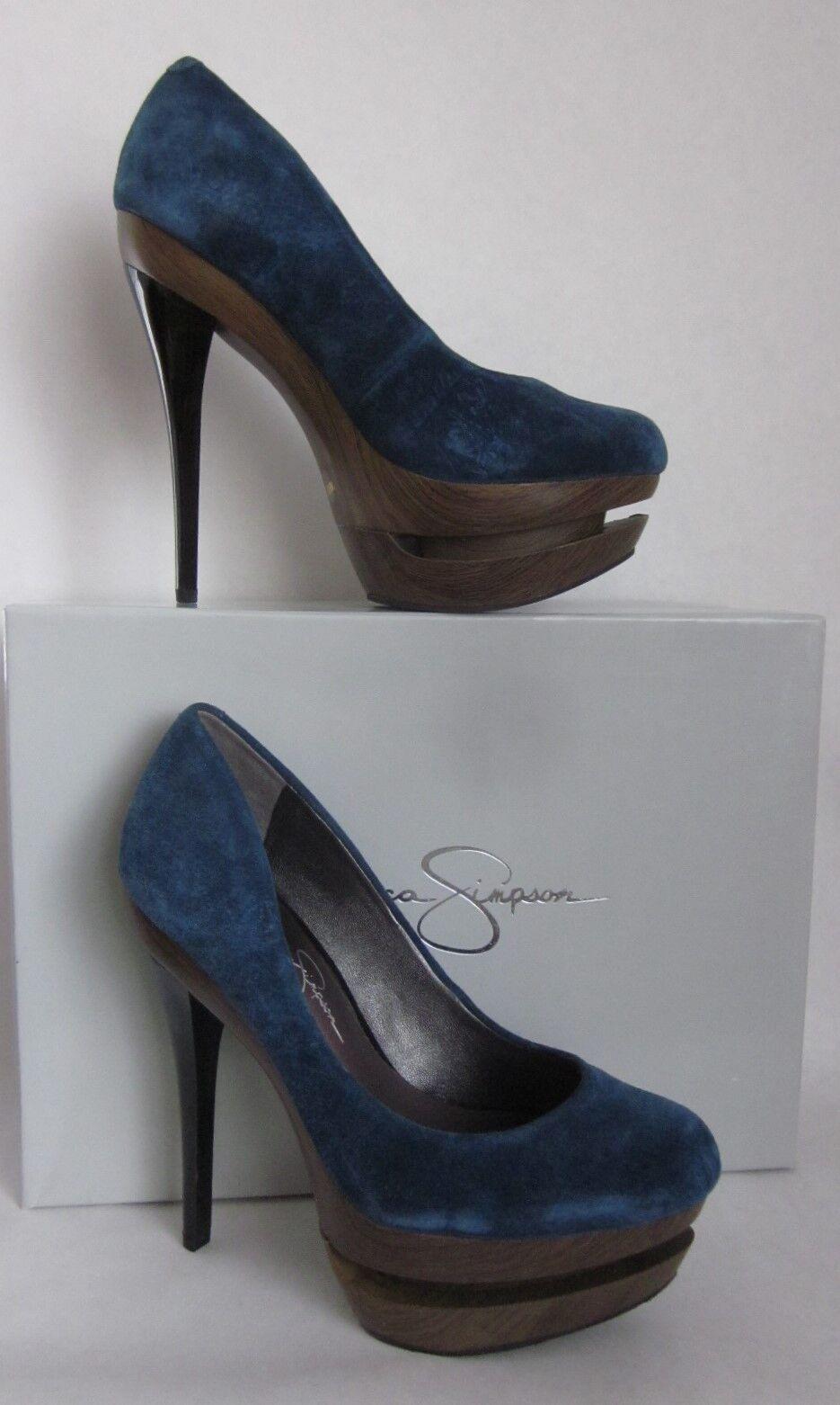 Jessica Simpson Colie blu Nubuck Platform Heel -  Dimensione 6  buon prezzo