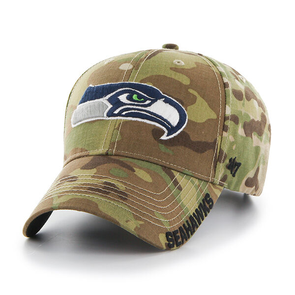 f9e778cf6 Seattle Seahawks Mens Adjustable Camo Hat Multicam Myers Cap by  47 BRAND  for sale online