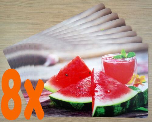 Tischsets Melonen-Cocktail PP-Foto,Abwaschbar,Abwischbar,Kunststoff