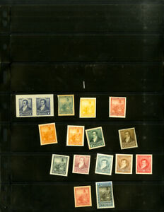 Argentina-Early-Collection-of-16-Stamp-Proofs
