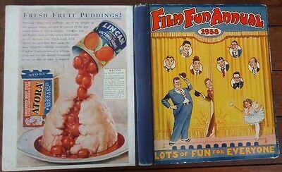 Film Fun Annual  Vintage 1938 Hardback Performing Arts