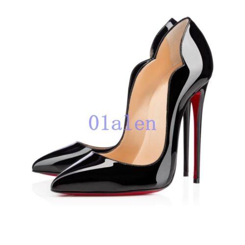 Femmes Chic super haute Chaussures à Talon Aiguille Escarpins Bout Pointu À Enfiler Nightclub