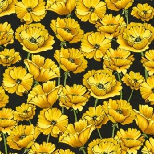 Wilmington and Graphic 45 The Magic of Oz 85578 957 Yellow Poppies Cotton Fab