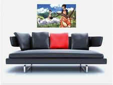 "PRINCESS MONONOKE BORDERLESS MOSAIC TILE WALL POSTER 35"" x 25"" MANGA ANIME"