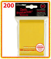 200 Ultra Pro Deck Protector Standard Size Card Sleeves Yellow Mtg Game 4 Packs