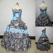Black/White Sweetheart Zebra Quinceanera Dresses Party/Prom/Bridesmaid Dresses