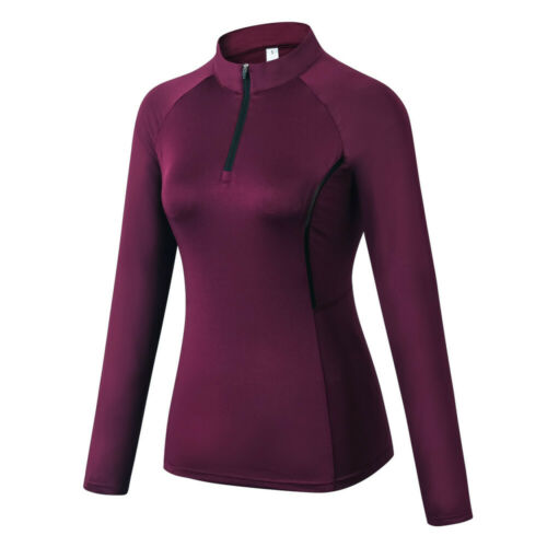 Womens Long Sleeve Workout Shirts Yoga Sports T-Shirt Activewear with Thumb Hole