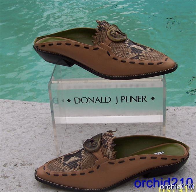 Donald Pliner Zapato Mocasín Couture Camel en Cuero PITONE Nuevo en Camel Caja 6 6.5 firma  265 188bb1