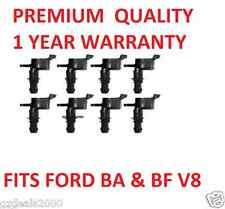 IGNITION COIL FIT FORD FALCON BA BF XR8 V8 5.4L 24V 2002-2007 x 8 COILS QUALITY