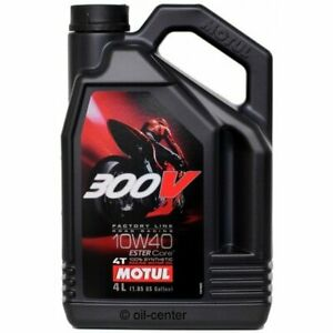 Motul-300V-4Ltr-10w-40-Road-Racing-100-Synthetic-Motorcycle-Oil