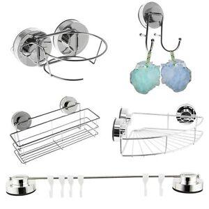 Shower-Caddy-Bathroom-Chrome-Bamboo-Shelf-Over-Bath-Tub-Rack-Storage-Extendable