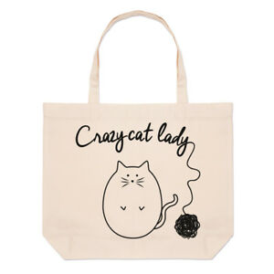 Ball-Of-Yarn-Crazy-Cat-Lady-Large-Beach-Tote-Bag-Crazy-Cat-Lady-Funny-Shoulder