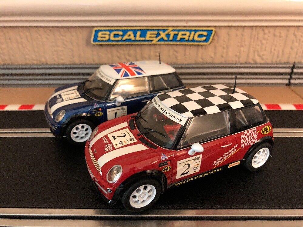 Scalextric John Cooper Challenge Challenge Challenge Mini's No1 & No2 boxed excellent état d8c243