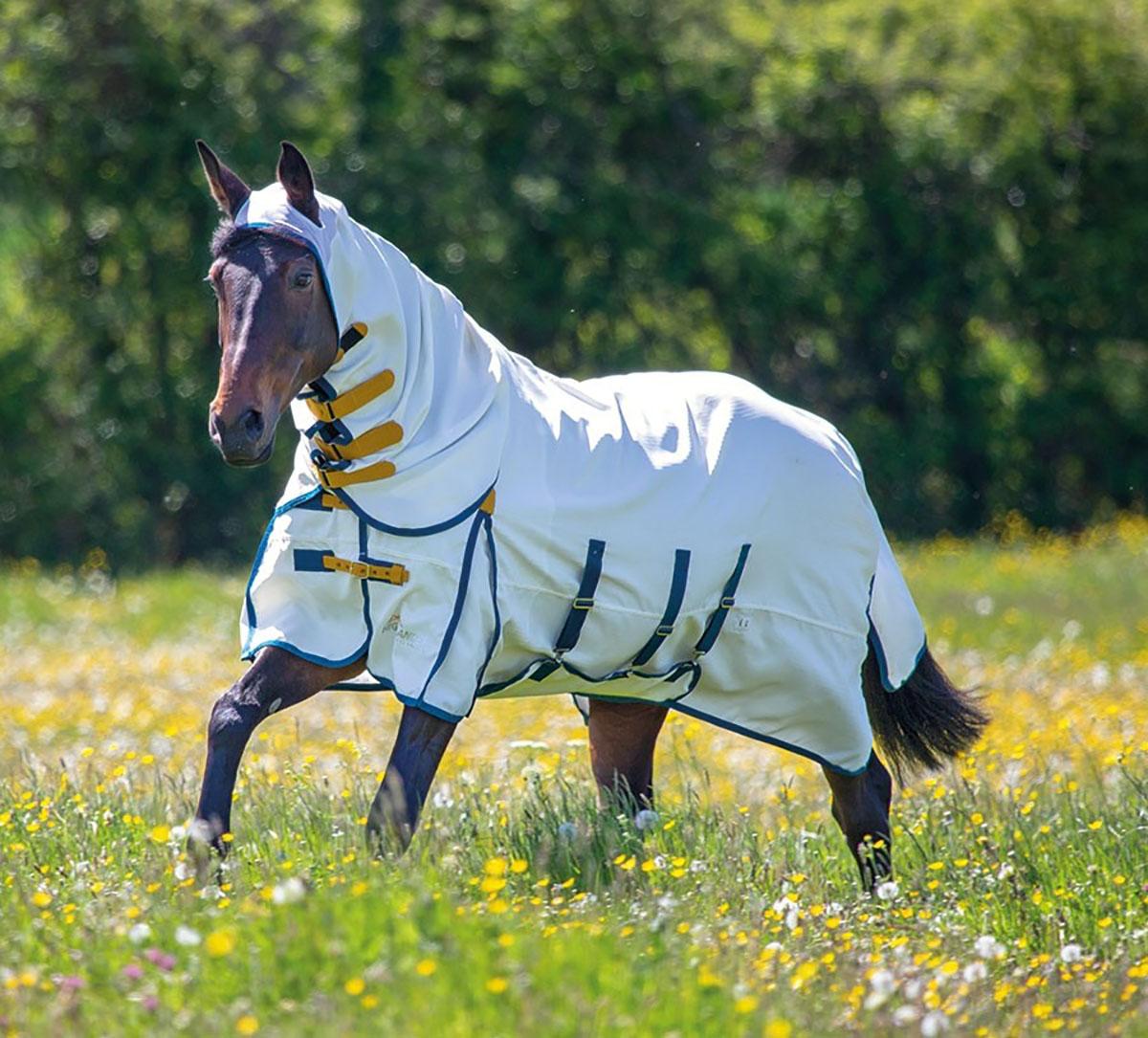 Shires Highlander PLUS sweetitch Cavallo Tappeto Tappeto Tappeto Combo-Bianco c30613