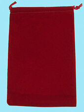 Chessex LARGE RED DICE BAG 5x7 SUEDE Drawstring Storage Pouch Velour Cloth RPG
