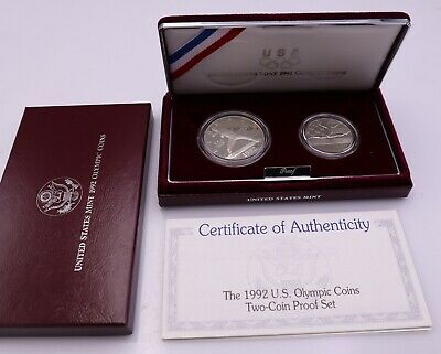 1988 US Mint Olympic Prestige Proof Set w Original Box /&CoA   A-1252