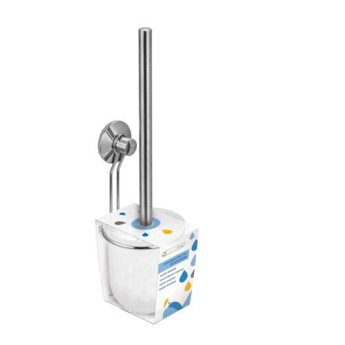 Wandmontage ohne Bohren WC-Garnitur Toilettenbürste Klobürste Halter Alu
