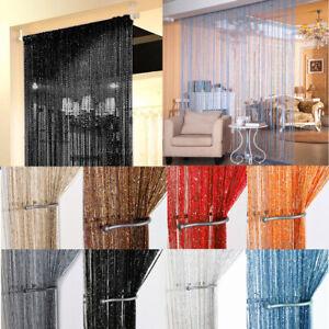 Glitter String Door Curtain Bead Room Dividers Beaded Fringe Window Panel