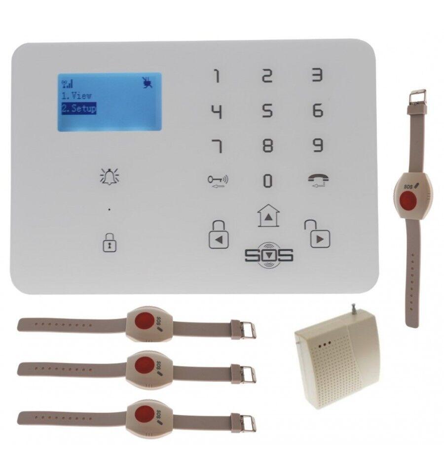 KP9 GSM inalámbrico de 200 400 metros personal Kit alarma de pánico inalámbrico D con wristb