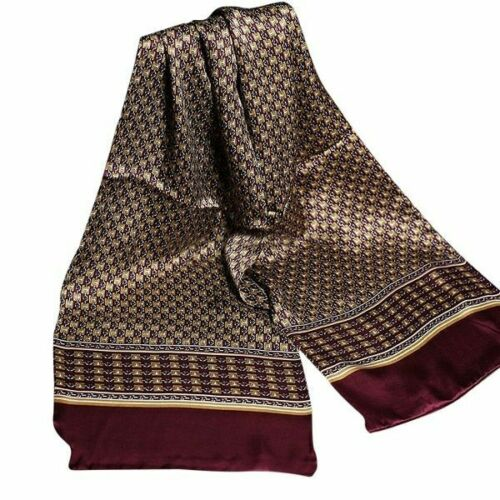 Details about  /Silk Scarf For Men Business Casual Royal Paisley Vintage Fashion Accessories