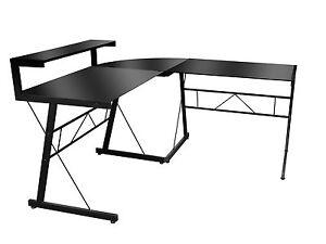 Winkelschreibtisch schwarz  Eckschreibtisch Winkelschreibtisch Style Schwarz Glas | eBay