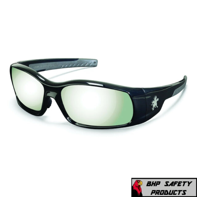 MCR CREWS SWAGGER SAFETY GLASSES SR137 RED FRAME//SILVER MIRROR LENS SUNGLASSES