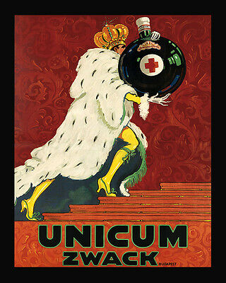 King Unicum Zwack Liquor Budapest Hungary Drink 16X20 Vintage Poster FREE S//H