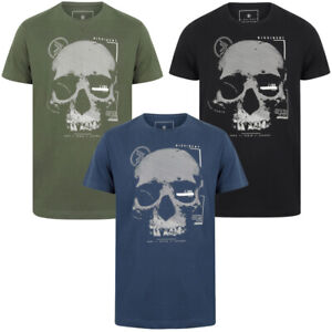 Dissident-Mens-Skull-Crew-Neck-T-Shirt-Graphic-Print-Top-Sportswear-Size-S-XXL