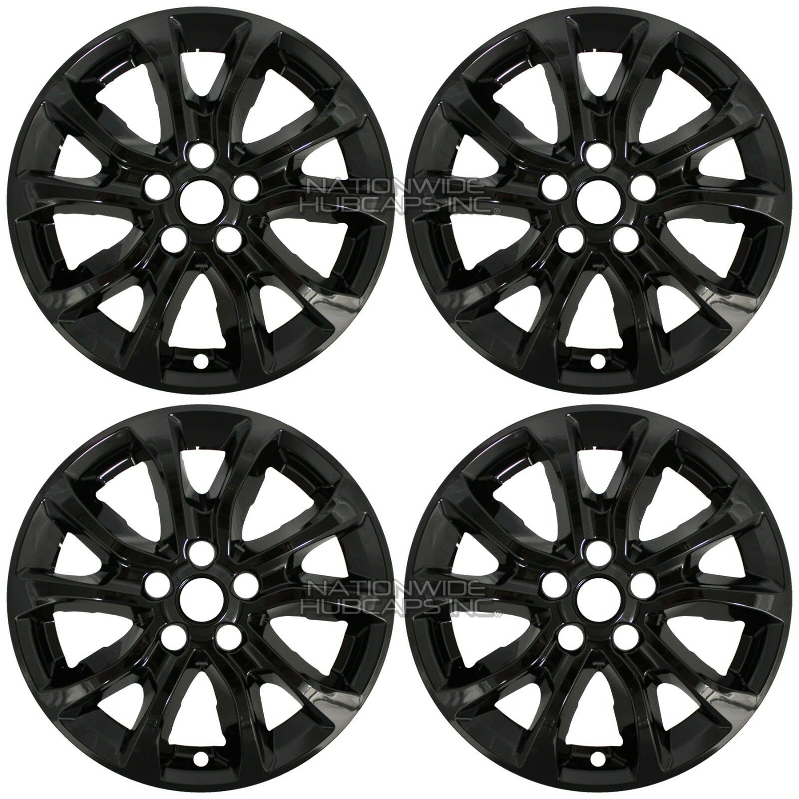 4 black 2018 2019 equinox 17 wheel skins hub caps full covers fit 2019 Chevy Traverse norton secured powered by verisign