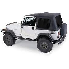 Rampage Complete Soft Top With Frame Amp Tint Fits 1976 1995 Jeep Cj 7 Amp Wrangler Yj Fits 1994 Jeep Wrangler
