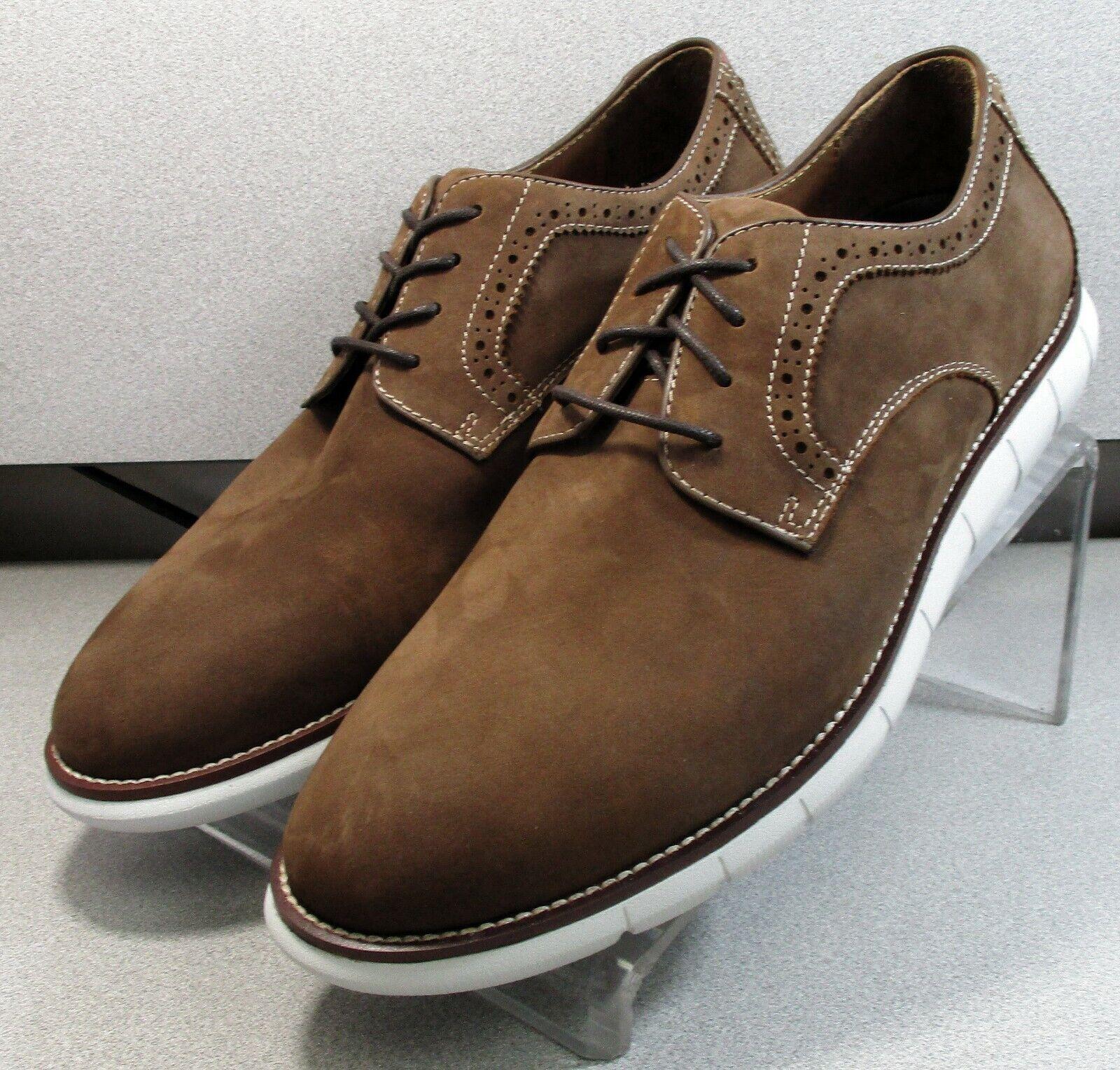 208372 SP50 Men's Shoes Size 9 M Brown Leather Lace Up Johnston & Murphy