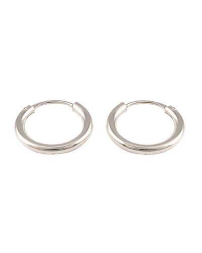 2 pares de plata esterlina Círculo Liso Huggie Pendientes De Aro interminables Joyería
