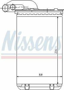 NISSENS (73252) Wärmetauscher, Innenraumheizung für RENAULT