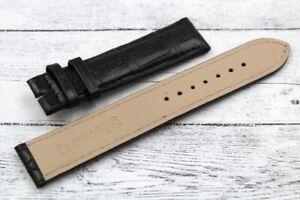 Eberhard Sangle Vrai Cuir Crocodile Sel Outlet 19mm Bracelet Unisexe Neuf