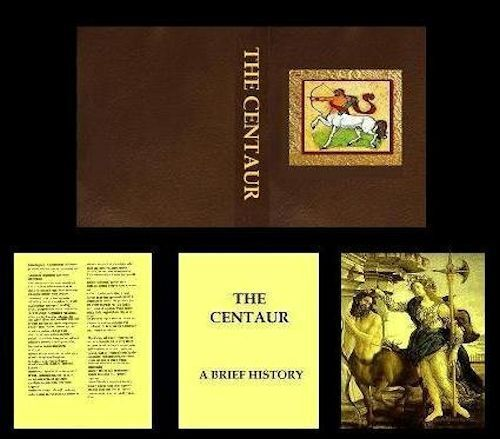 Handcrafted Illustrated Miniature Book The Centaur for Dollhouse