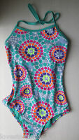 Xhilaration Girls Multi Color Dots One Piece Swimsuit Xs 4/5