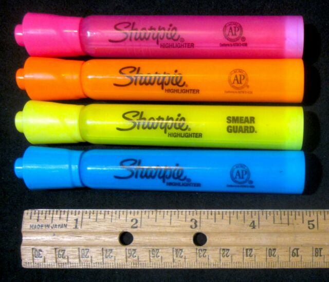 4 Pack Sharpie Highlighters Chisel Tip