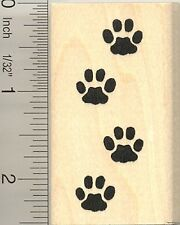 Cat paw prints Rubber Stamp G10418 WM border tracks