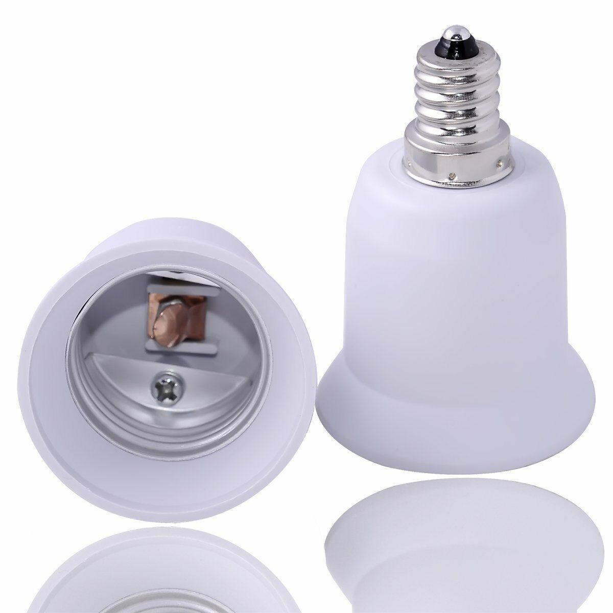 E12 to e27 e26 candelabra light lamp bulb socket base enlarger adapter converter ebay Light bulb socket