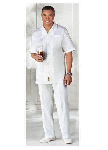 Mens White Collarless Shirt