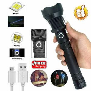 HIGHEST LUMENS XHP70.2 MOST POWERFUL FLASHLIGHT USB TORCH HUNTING LAMP HAND LIGH