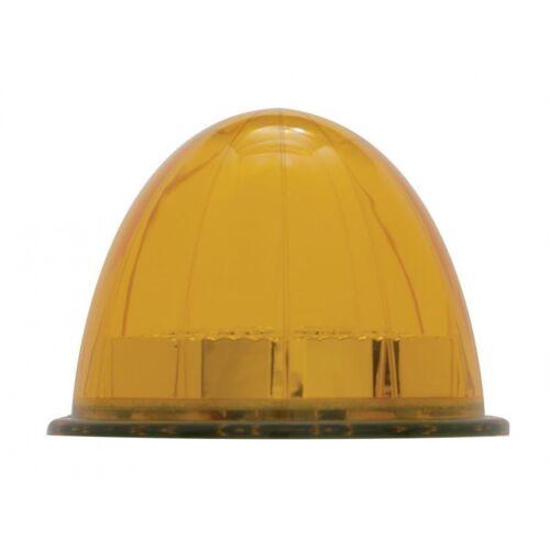 Amber LED//Amber Lens 17 LED Dual Function Reflector Cab Light